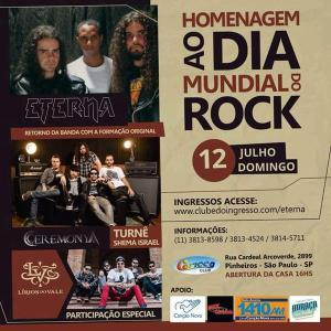 Dia Mundial do Rock Ceremonya Eterna e Lirios do Vale